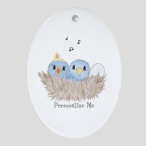 Baby Bird Ornament (Oval)