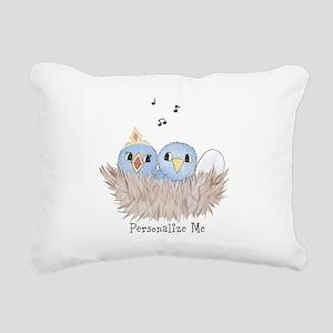 Baby Bird Rectangular Canvas Pillow
