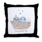 Baby Bird Throw Pillow