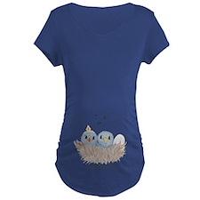 Baby Bird Maternity Dark T-Shirt