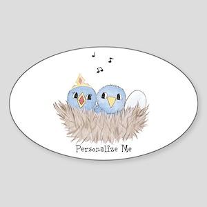 Baby Bird Sticker (Oval)