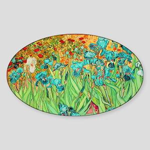 van gogh teal irises Sticker