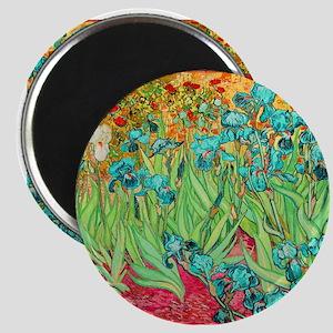 van gogh teal irises Magnets