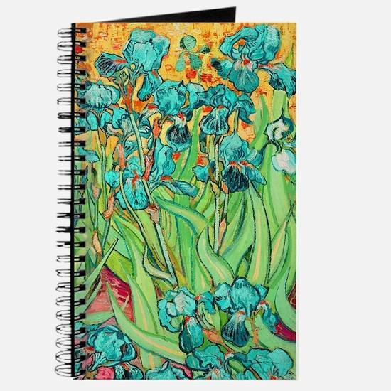 van gogh teal irises Journal