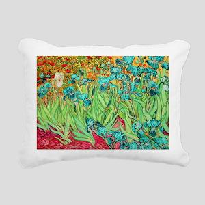 van gogh teal irises Rectangular Canvas Pillow