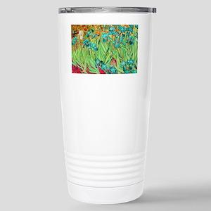 van gogh teal irises Travel Mug