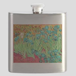 van gogh teal irises Flask