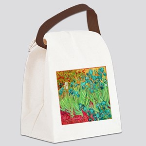 van gogh teal irises Canvas Lunch Bag