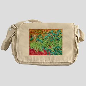 van gogh teal irises Messenger Bag