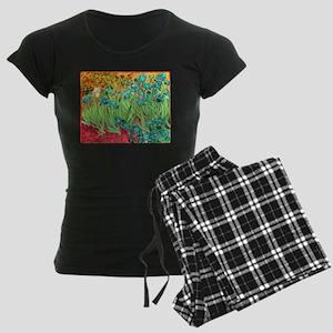van gogh teal irises Pajamas
