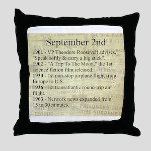 September 2nd Throw Pillow