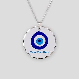 Evil Eye Magic Personalized Necklace Circle Charm