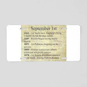 September 1st Aluminum License Plate