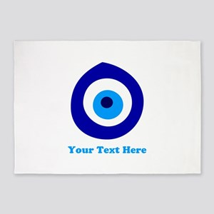 Evil Eye Magic Personalized 5'x7'Area Rug