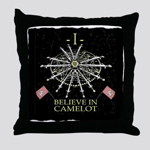 I Believe In Camelot Throw Pillow