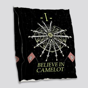 I Believe In Camelot Burlap Throw Pillow
