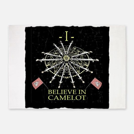 I Believe In Camelot 5'x7'Area Rug
