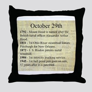 October 29th Throw Pillow