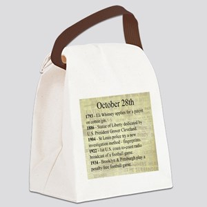 October 28th Canvas Lunch Bag