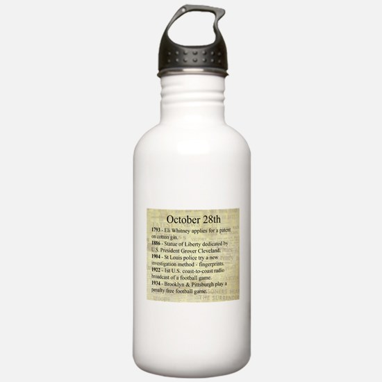 October 28th Water Bottle