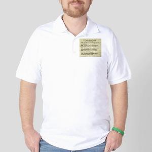 October 28th Golf Shirt