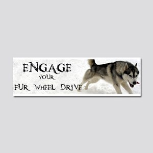 Engage Your Fur Wheel Drive Car Magnet 10 x 3