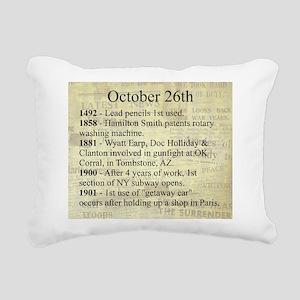 October 26th Rectangular Canvas Pillow