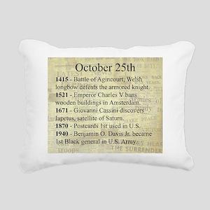 October 25th Rectangular Canvas Pillow