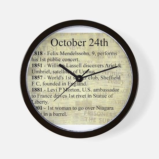 October 24th Wall Clock