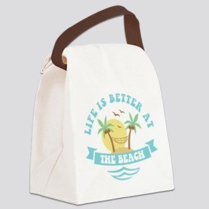 Life's Better At The Beach Canvas Lunch Bag