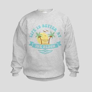 Life's Better At The Beach Kids Sweatshirt