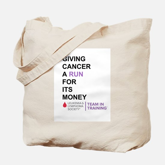 Give Cancer a Run for Its Money Tote Bag