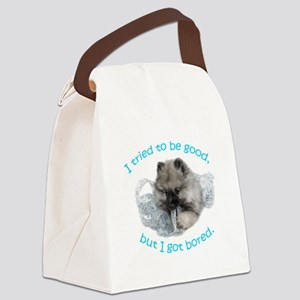 Bored Puppy Canvas Lunch Bag