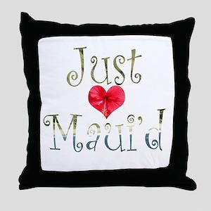 Just Maui'd Hibiscus Heart Throw Pillow