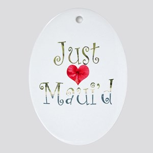 Just Maui'd Hibiscus Heart Oval Ornament