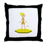 Beehive Cute Girl Throw Pillow