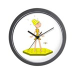 Beehive Cute Girl Wall Clock
