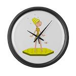 Beehive Cute Girl Large Wall Clock