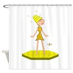 Beehive Cute Girl Shower Curtain