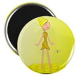 Beehive Cute Girl Magnets