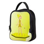 Beehive Cute Girl Neoprene Lunch Bag