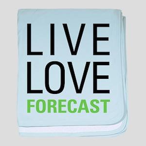 Live Love Forecast baby blanket
