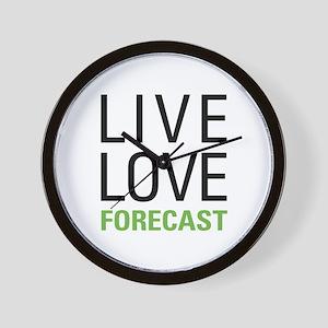 Live Love Forecast Wall Clock