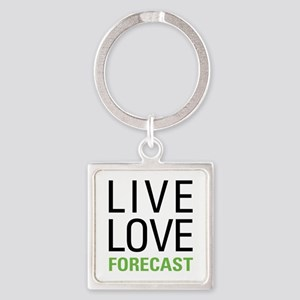 Live Love Forecast Square Keychain