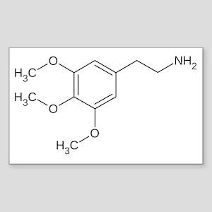 Mescaline Molecule Sticker (Rectangle)