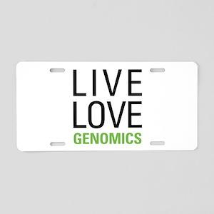 Live Love Genomics Aluminum License Plate