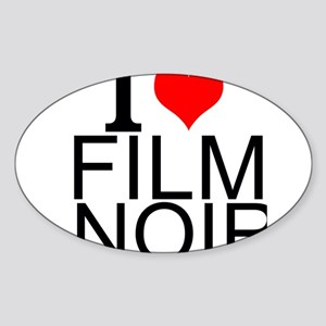 I Love Film Noir Sticker