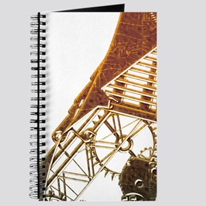 Steampunk Bronze Cat Journal