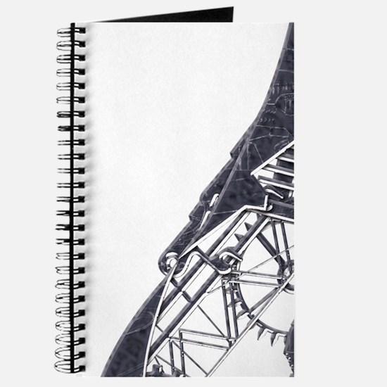 Silver steampunk cat Journal