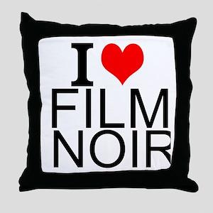 I Love Film Noir Throw Pillow